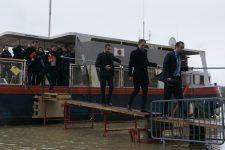 En visite, Sébastien Lecornu salue les forces mobilisées pendant la crue