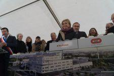 La première pierre du nouveau bâtiment de l'hôpital posée
