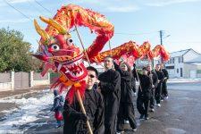 Le centre-ville à l'heure du nouvel an chinois
