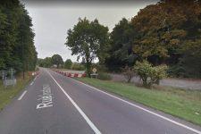 La route départementale sécurisée côté Rolleboise
