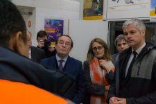 Laurent Wauquiez en visite à l'Itedec