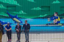 La rameuse Claire Bové à l'honneur au stade nautique